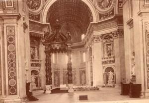 Vatican Rome Roma San Pietro in Vaticano St. Peter's Basilica Old Photo 1890