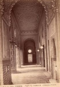 Italy Florence Firenze Great Synagogue Tempio Maggiore Israelitico Photo 1890