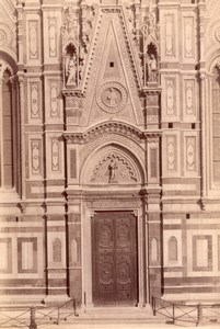 Italy Florence Firenze Cathedral Door Giotto Prima Porta Old Photo 1890