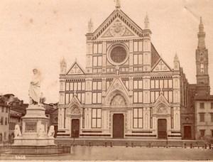 Italy Florence Firenze Basilica di Santa Croce Franciscan Church Old Photo 1890