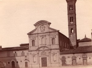 Italy Florence Firenze chiesa di Ognissanti Franciscan Church Old Photo 1890