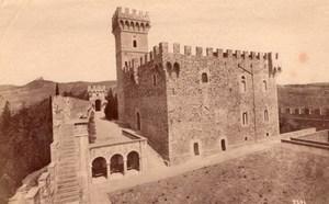 Italy Florence Firenze Castello di Vincigliata Medieval Castle Old Photo 1890