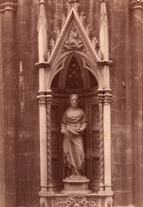 Italy Florence Firenze Orsanmichele Church St James Statue Old Photo 1890