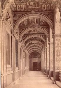Vatican Palazzo Vaticano Raphael Loggia di Raffaello Old Photo 1890