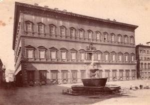Italy Rome Roma Palazzo Farnese Palace Fountain Old Photo 1890