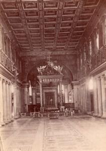 Italy Rome Roma Basilica di Santa Maria Maggiore Old Photo 1890