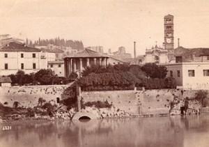 Italie Rome Roma Cloaca Maxima Canal Egout Ancienne Photo 1890