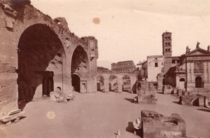 Italie Rome Roma Basilique de Maxence Santa Francesca Romana Ancienne Photo 1890