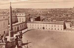 Italie Rome Panorama Roma Palazzo del Quirinale Ancienne Photo 1890