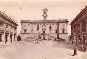Italy Rome Roma Capitoline Hill Piazza del Campidoglio Old Photo 1890
