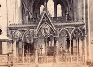 Hereford Cathedral Rood Choir Screen Old Bedford? Photo 1880