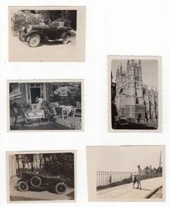 Switzerland? Small lot no location Automobiles Old amateur Snapshot Photo 1920's