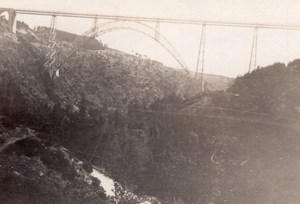 France Cantal Viaduc de Garabit Viaduct Old amateur Snapshot Photo 1927