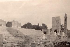 France Arles Roman Ruins Theatre? Old amateur Snapshot Photo 1927