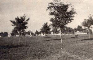 Colorado Fort Lyon Parade Grounds Officers Row Old amateur Snapshot Photo 1910's