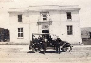 USA New Mexico Raton Automobile devant la Poste Post Office Ancienne Photo Amateur 1910's