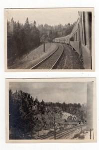 USA California Train Railway Tracks Railroad 2 Old amateur Snapshot Photos 1920