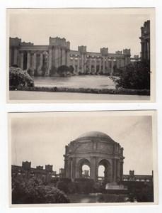 San Francisco 1915 Exposition Palace of Fine Arts 2 Old amateur RPPC Photos 1920