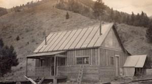 Idaho Casto Placer Mine Mess Hall Loon Creek Ancienne Photo Amateur 1916