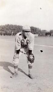 USA Portrait Baseball Player Old amateur Snapshot Photo 1920