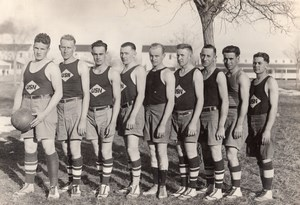 Colorado Fort Lyon US Navy Basketball Team all named Old amateur Photo 1919