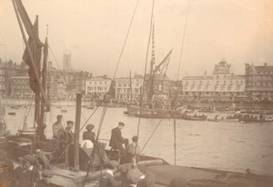 Kent Thanet Margate Harbour Seaside Town Old amateur Photo 1900