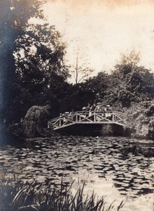 English Countryside Golders Green London Pond Bridge Old amateur Photo 1900