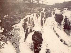 Wales Pays de Galles Swallow Falls Cascade Ancienne Photo Amateur 1900