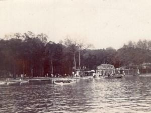 France Barques sur un Bassin du Chateau de Versailles Ancienne Photo Amateur 1900