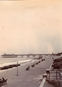 Norfolk Cromer English Seaside Town Promenade Old amateur Photo 1900