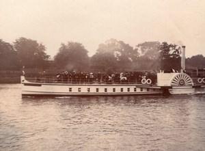 London Richmond Paddle Steamer Steamship River Thames Old amateur Photo 1900