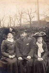 English? Family Portrait Parents & Young Lady Old amateur Photo 1900