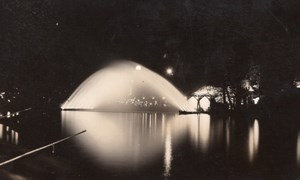 Paris Colonial Exposition by Night Water Bridge Old Amateur Photo 1931