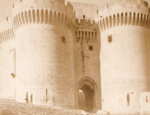 Villeneuve-lès-Avignon Fort Saint-André WWII Old American? Photo 1945