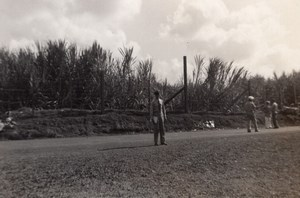 US Army On way to Barracks Inspection in Asia? Old Amateur Photo 1945