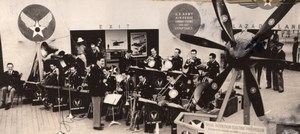 Ohio Fairfield Patterson Field Flying Band Military Orchestra RPPC Photo 1940's