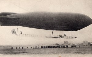 France Aviation Surcouf Astra Dirigible Ville de Bruxelles Old Postcard 1910