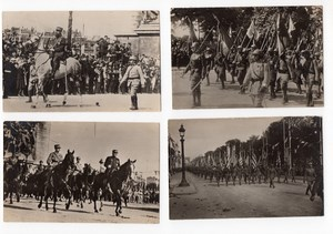 France Paris Fêtes de la Victoire Military Parade 4 Real Photo Postcards 1919