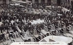 Paris Army Museum War Trophies Airplane Guns Musee de l'Armee Old Postcard 1920