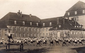 Germany Berlin Spandau Men Group Prison? Military Camp? Real Photo Postcard 1921