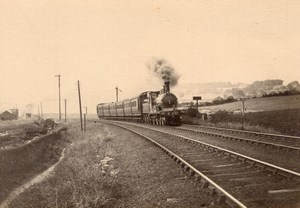 England Steam Train Railway Tracks Old Photo 1900