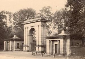 England Park or Castle Entrance Gate Old Photo 1900