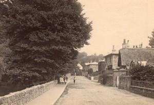 Children Group in British English Village Street Old Photo 1900