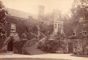British Countryside Unidentified Castle Stately Home Old Photo 1900