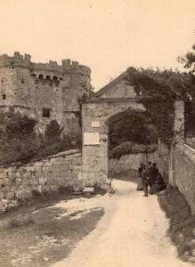Isle of Wight Château de Carisbrooke Castle Gatehouse Loge Ancienne Photo 1900