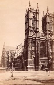 London Westminster Abbey Façade Old GW Wilson Photo 1890