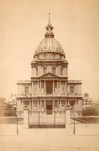 France Paris Dome des Invalides old Champagne Photo 1890