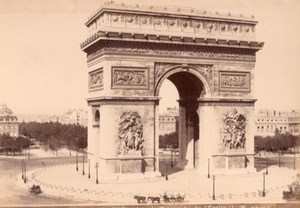France Paris Arc de Triomphe de l'Etoile Old LP Photo 1890