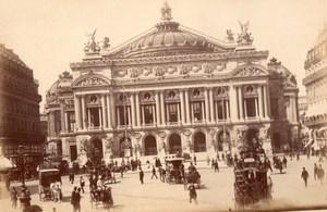 Paris L'Opera Académie nationale de musique Omnibus old X Photo 1890