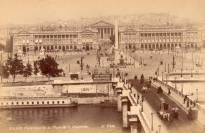 Paris Place de la Concorde Panorama Bridge Old X Photo 1890